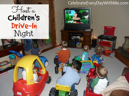 host a children's drive-in night