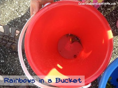 Rainbow in a bucket