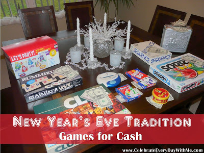 New Year's Eve Tradition. Games for Cash
