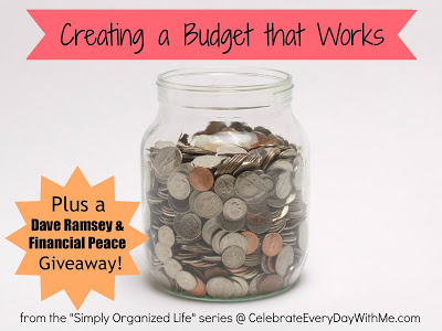 Creating a Budget that Works with Dave Ramsey giveaway
