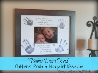Babies Don't Keep Children's Photo and Handprint Keepsake