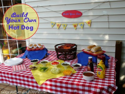 Build Your Own Hot Dog Bar Station