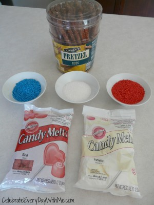 red white blue chocolate covered pretzels 2