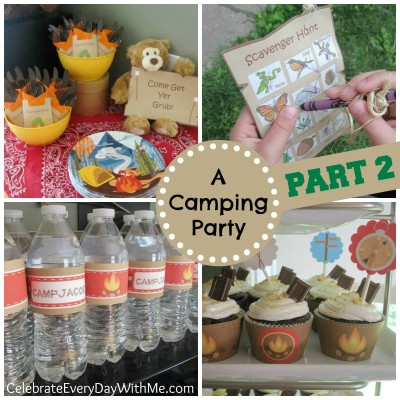 Camping Birthday Party part 2