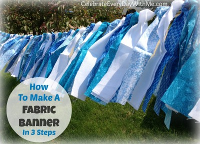 How to make a fabric banner in 3 steps.