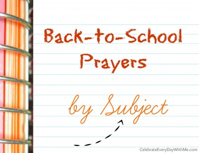 back to school prayers by subject