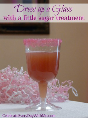 dress up a glass with a little sugar treatment
