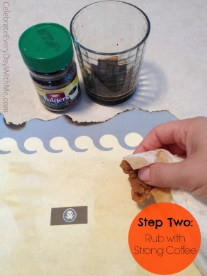 diy treasure map paper