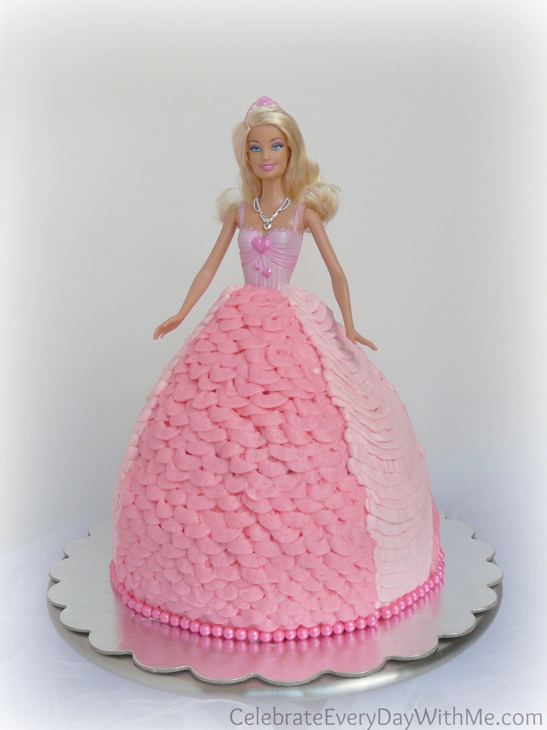 How To Make A Barbie Doll Cake Celebrate Every Day With Me