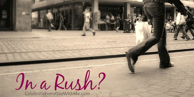 in a rush
