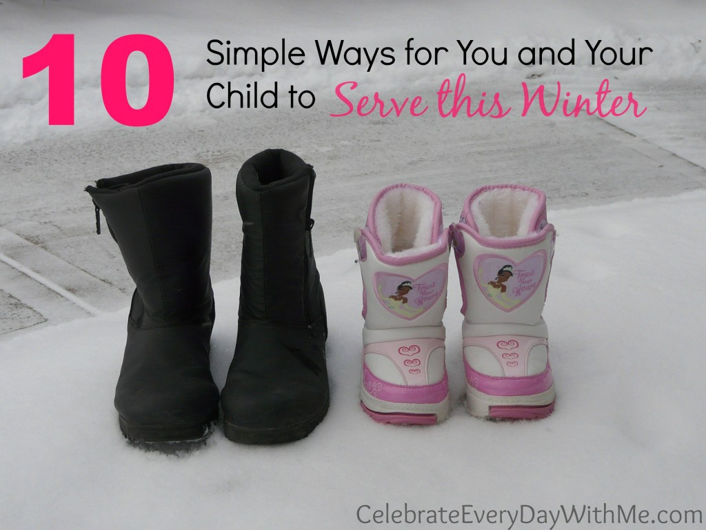 10 Simple Ways for You and Your Child to Serve This Winter