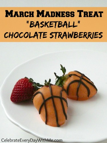 March Madness Basketball Chocolate Strawberries-
