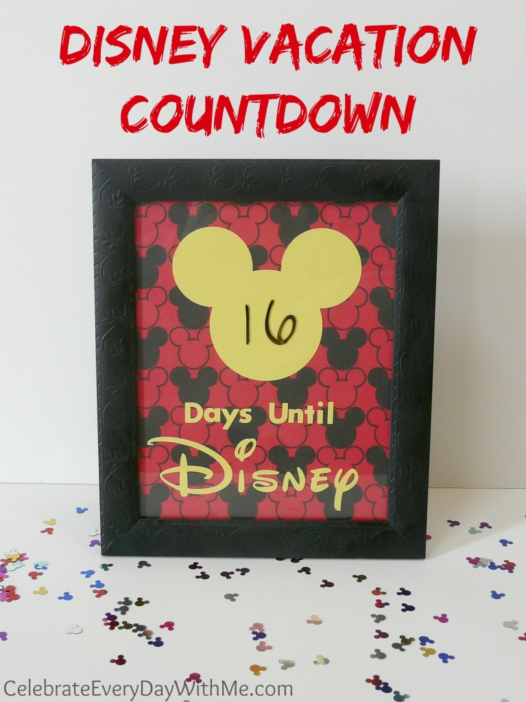 dry erase disney vacation countdown