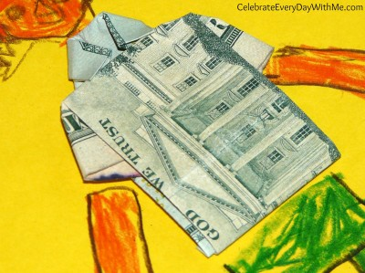 origami money shirt