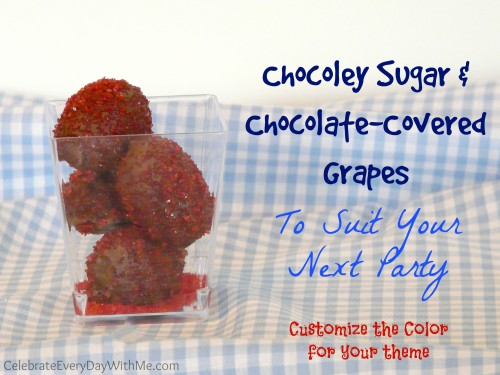 Chocoley Sugar and Chocolate-Covered Grapes