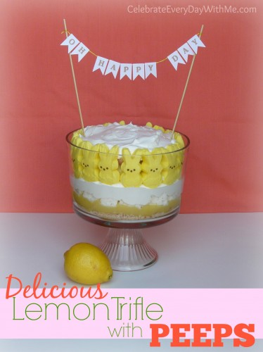 Lemon Trifle with Peeps.....