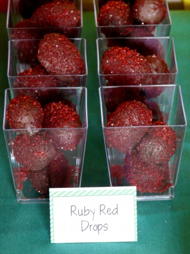 Ruby Red Drops for Wizard of Oz party