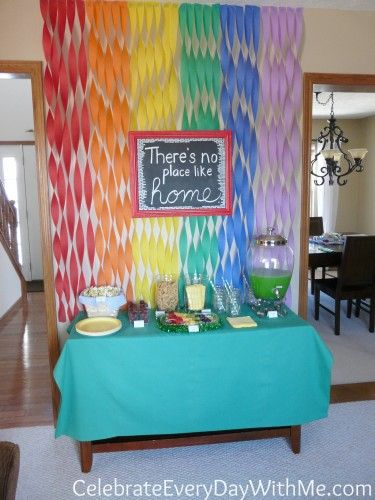 Wizard of Oz Party Snack and Dessert Table
