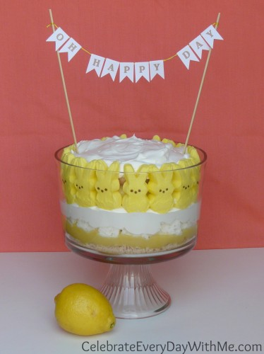 lemon trifle with peeps