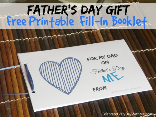 Father's Day Gift - free printable - fill-in booklet