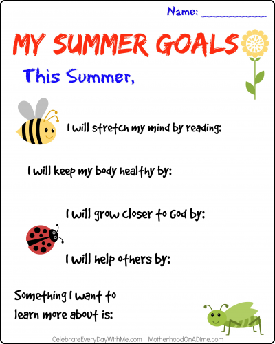 My Summer Goals..