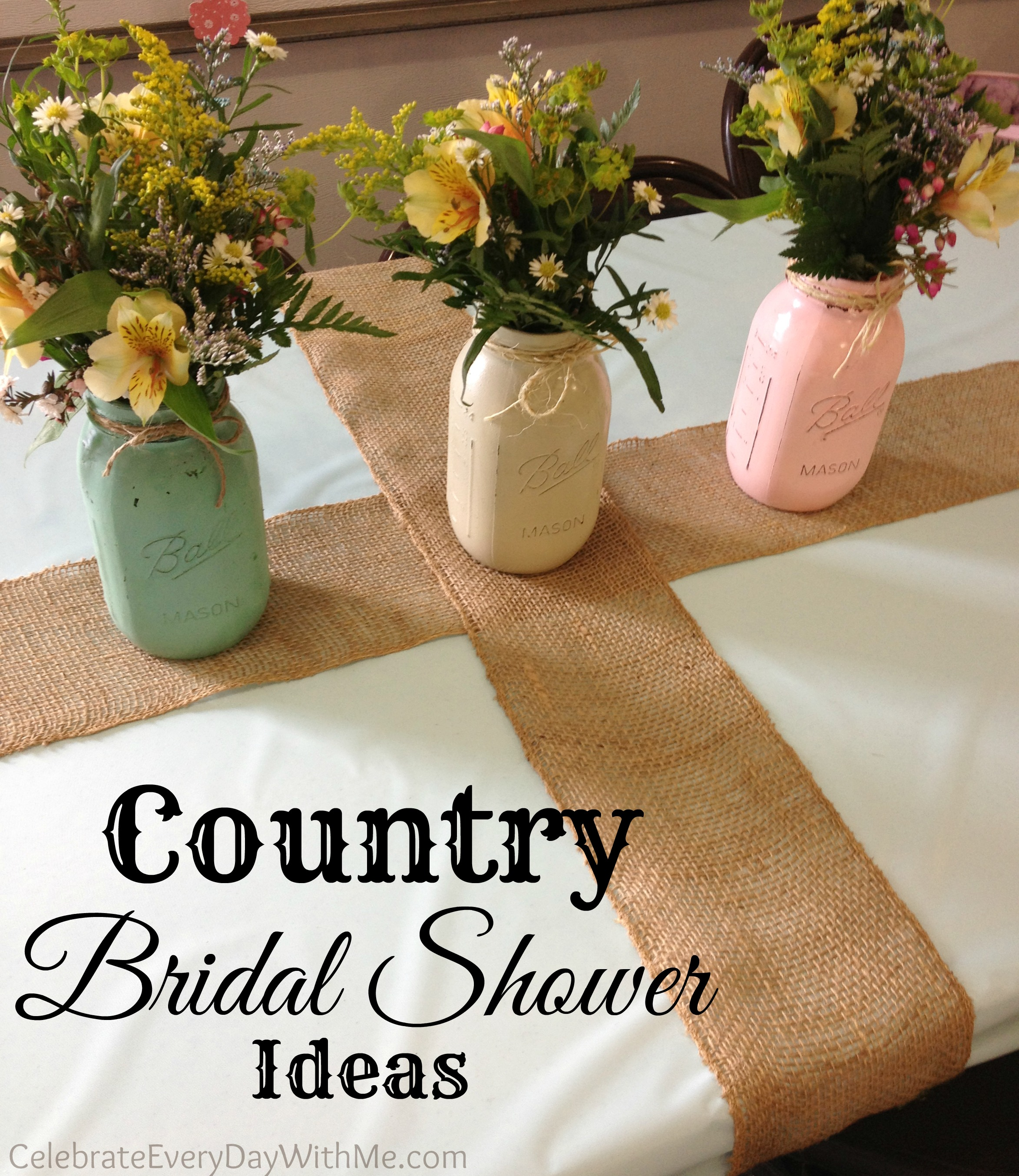 country bridal shower ideas celebrate every day with me With country themed wedding shower ideas