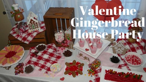 Valentine Gingerbread House Party