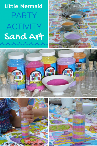 Little Mermaid Party Activity - Create Sand Art for the kids to take home