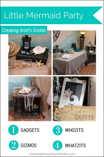 Little Mermaid Party Decor - Creating Ariel's Grotto!