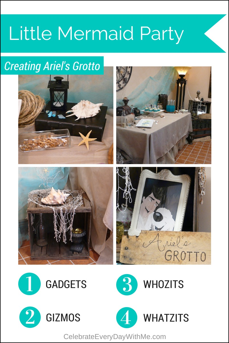 Little Mermaid Party Decor:  Creating Ariel's Grotto