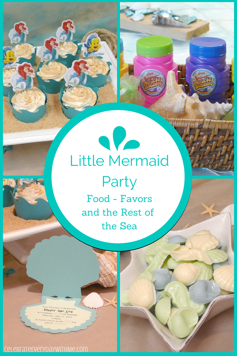 Little Mermaid Party Food, Favors and the Rest of the Sea