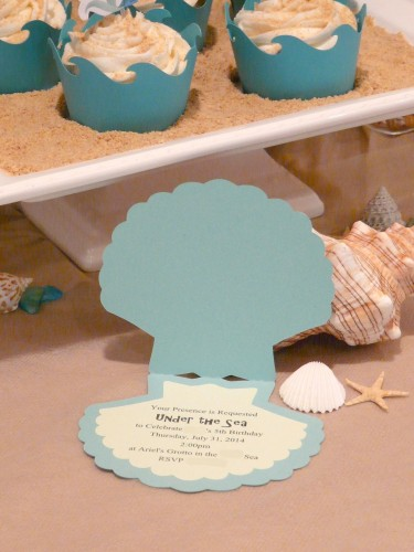 Little Mermaid Party Invitation - Under the Sea