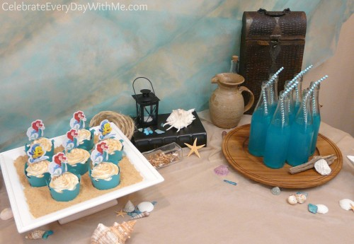 tablescape ideas for Little Mermaid Party