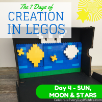 The 7 Days of Creation in Legos {Day 4 – Sun, Moon & Stars}