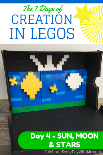 7 Days of Creation in Legos - Day 4 Sun, Moon & Stars