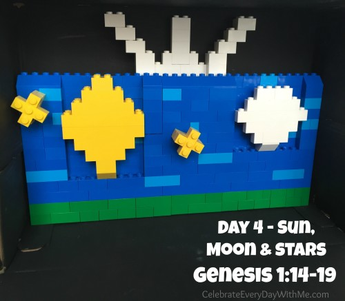 day 4 in legos from Genesis 114-19
