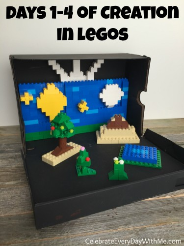 days 1-4 of creation in legos