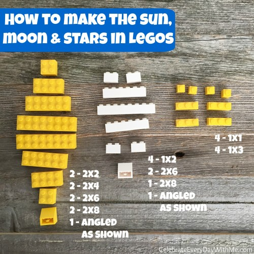 how to make lego sun, moon and stars