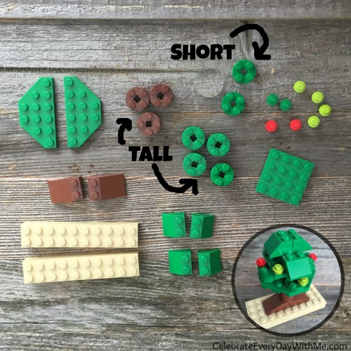 what you need to make a LEGO tree-