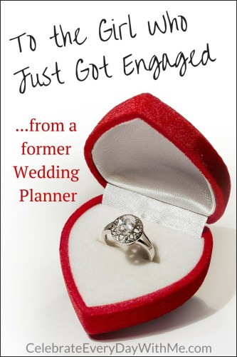 To the Girl Who Just Got Engaged from a former wedding planner