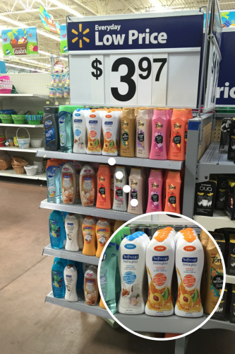 Softsoap placement in Wal-Mart