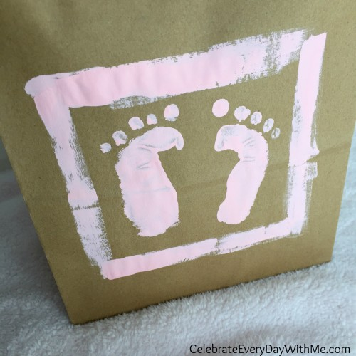 make a baby footprint with your hand 8