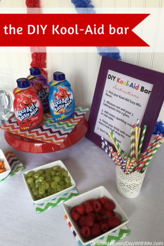 DIY Kool-Aid Drink Station - colorful & delicious!