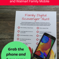 Make Memories with a Family Digital Scavenger Hunt & Walmart Family Mobile