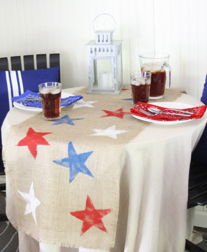 4th of july table - stars stamp shabby creek cottage