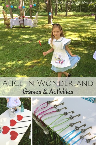 alice in wonderland games to play at party or in party supply