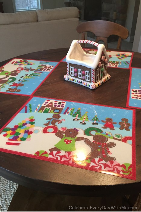 Gingerbread House Table Setting
