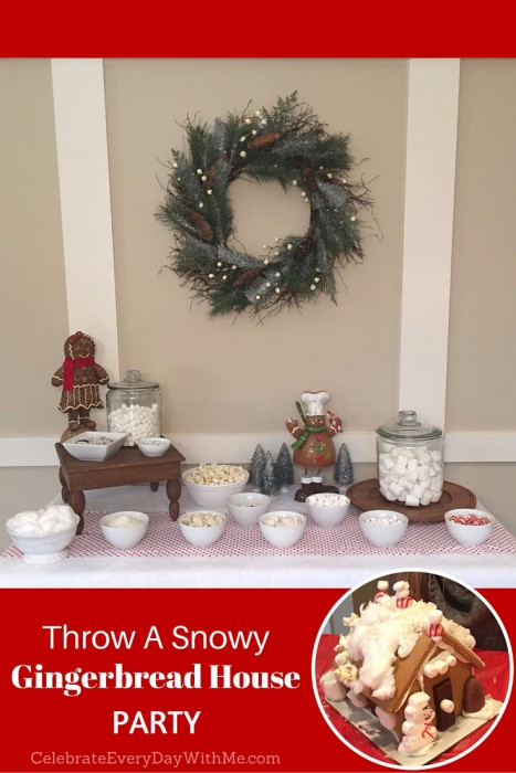 Snowy Gingerbread House Party - 9