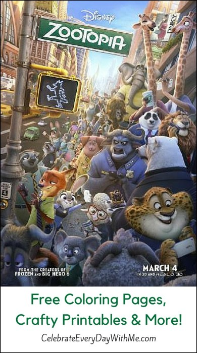 Free Coloring Pages, Crafty Printables & More for Zootopia