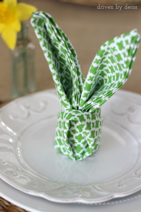 Napkin-folded-into-rabbit-ears-so-cute-for-an-Easter-table-setting